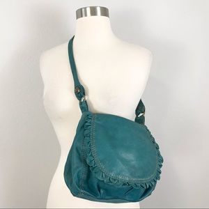 Lucky Brand Vintage Italian Leather Bag Ruffle